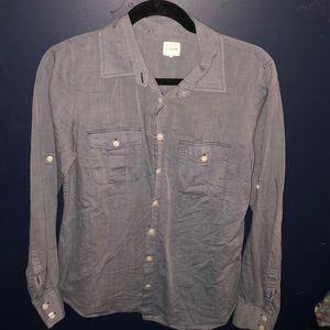 J crew button down denim blouse